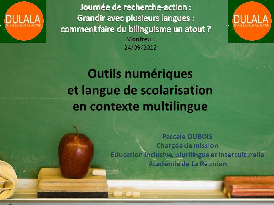 Outils numériques et langue de scolarisation en contexte multilingue
