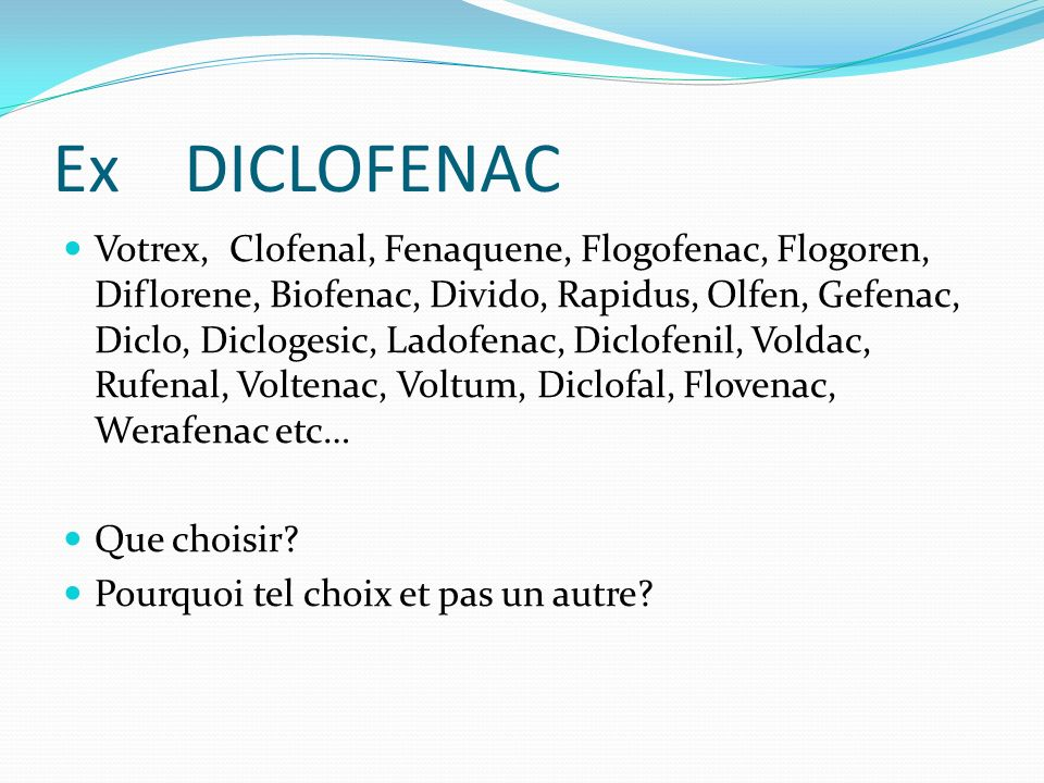 Ex DICLOFENAC