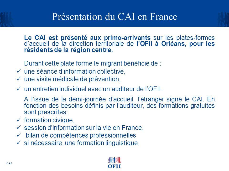 Présentation du CAI en France