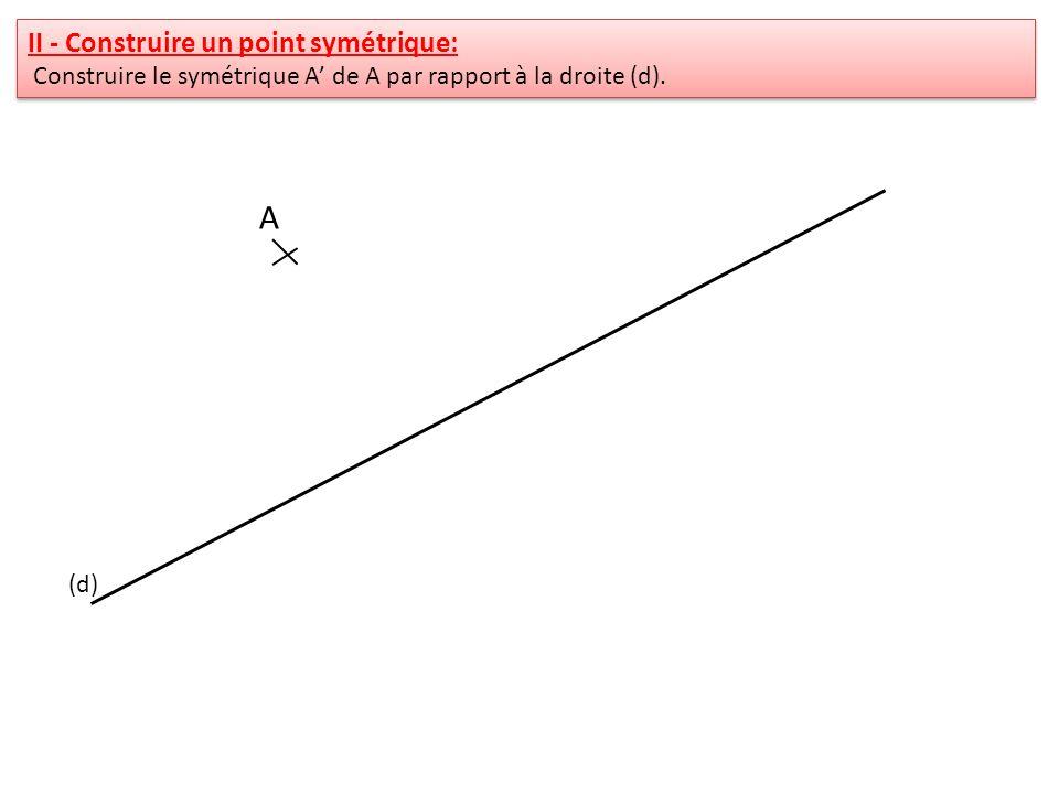 A II - Construire un point symétrique:
