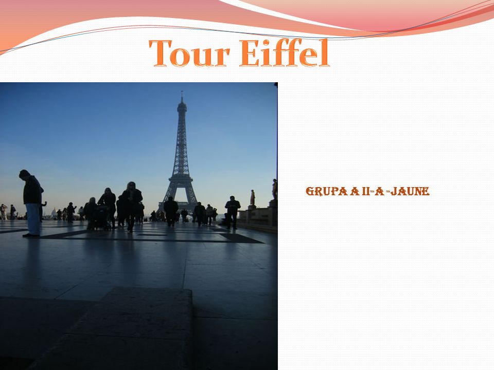Tour Eiffel Grupa a II-a -Jaune