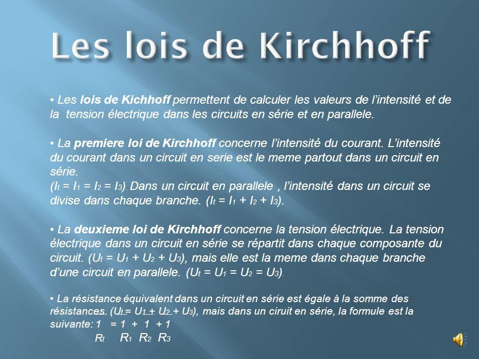 Les lois de Kirchhoff