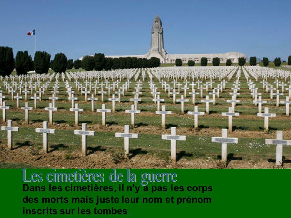 Les cimetières de la guerre