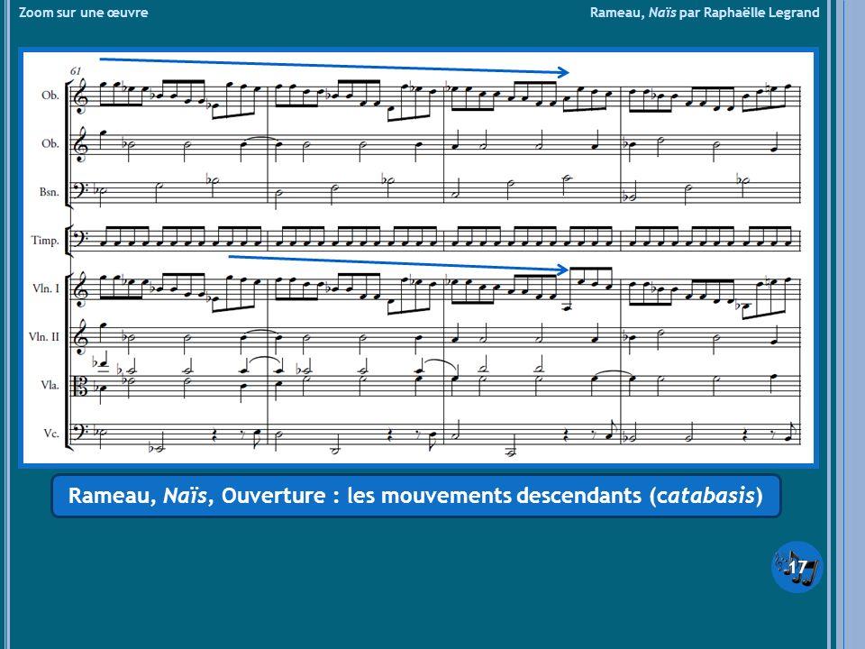 Rameau, Naïs, Ouverture : les mouvements descendants (catabasis)