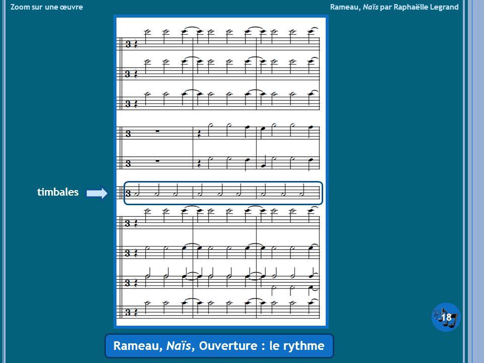 Rameau, Naïs, Ouverture : le rythme