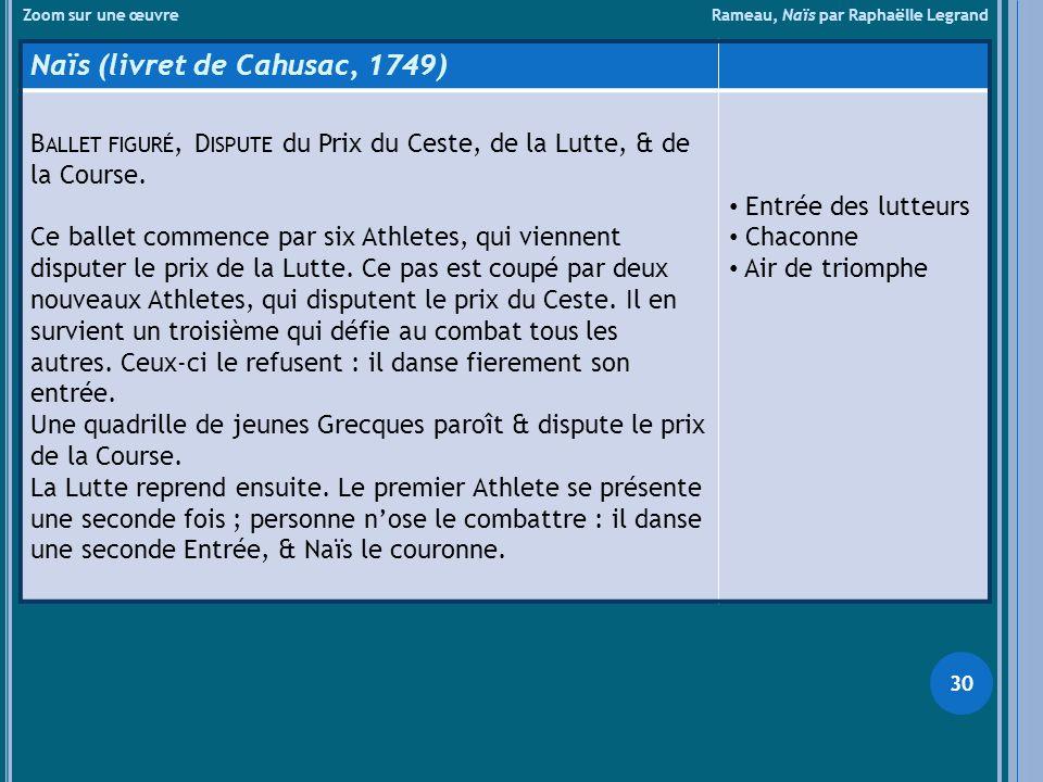 Naïs (livret de Cahusac, 1749)