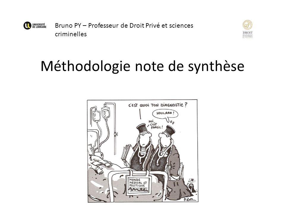 Méthodologie note de synthèse