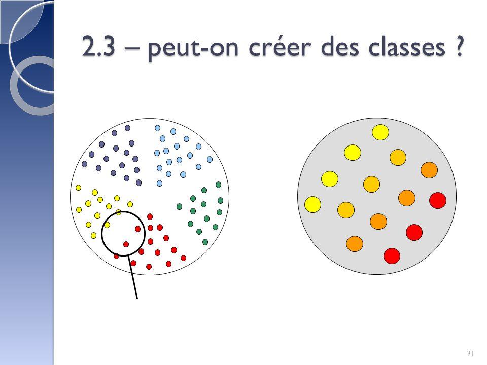 2.3 – peut-on créer des classes