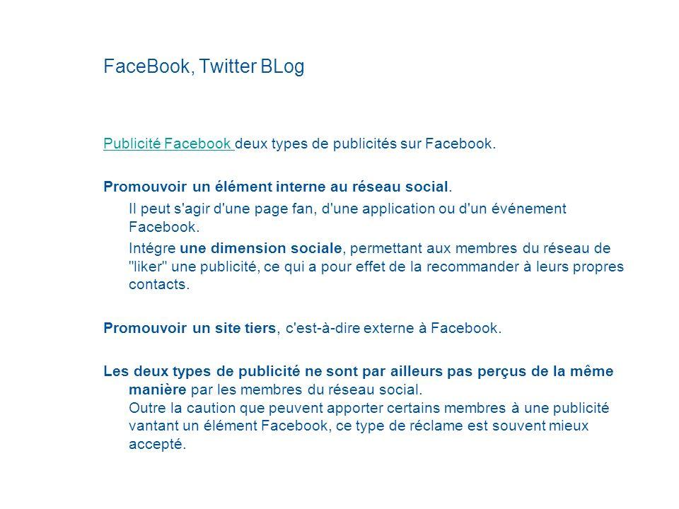 FaceBook, Twitter BLog