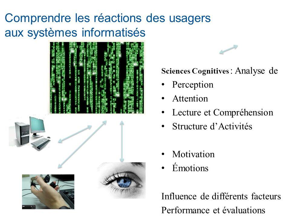 Comprendre les réactions des usagers aux systèmes informatisés
