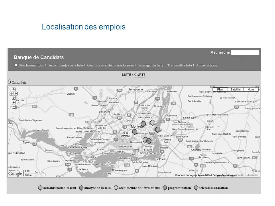 Localisation des emplois