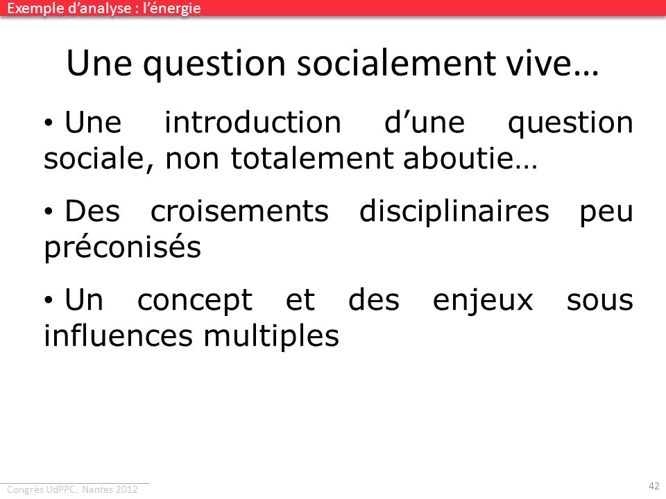 Une question socialement vive…