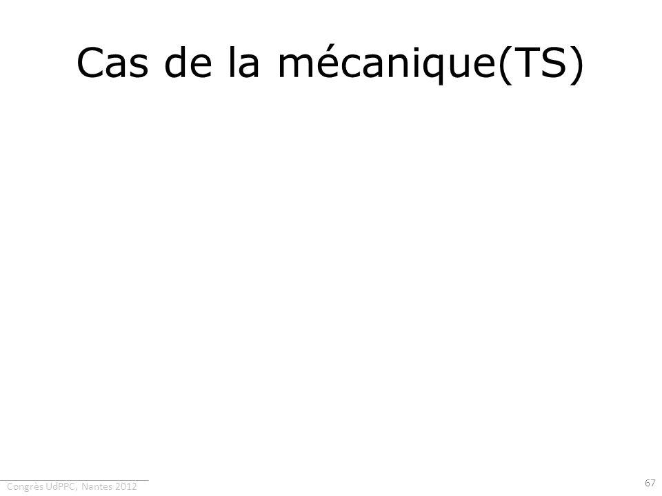 Cas de la mécanique(TS)
