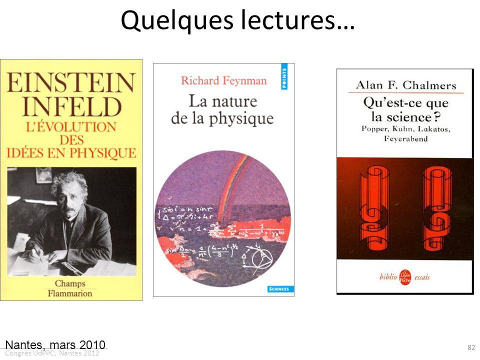 Quelques lectures… Nantes, mars 2010