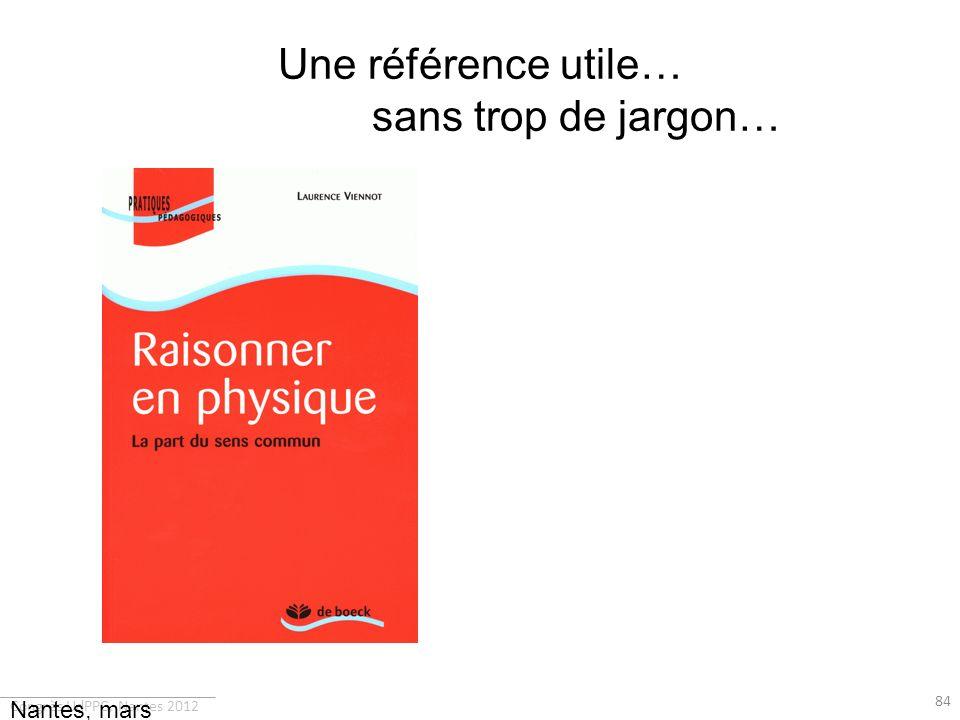 Une référence utile… sans trop de jargon…