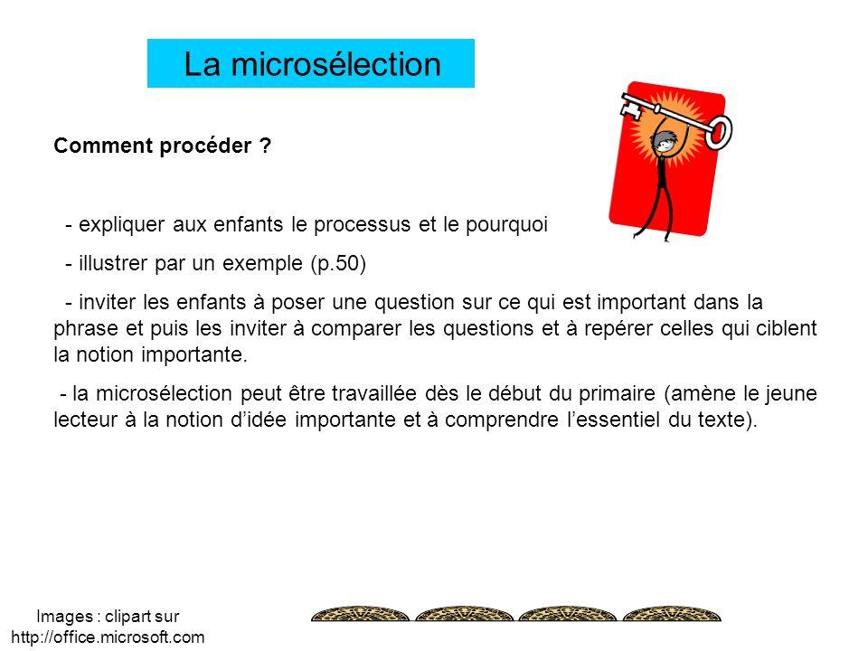Images : clipart sur http://office.microsoft.com