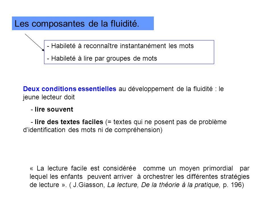 Les composantes de la fluidité.