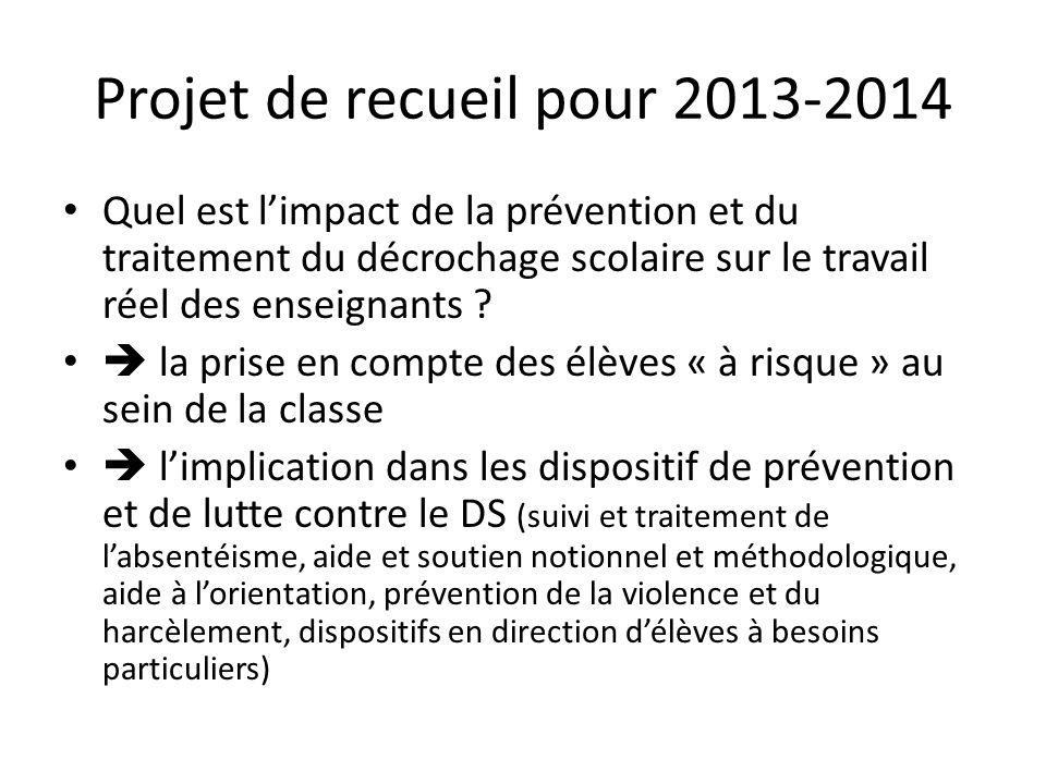 Projet de recueil pour 2013-2014