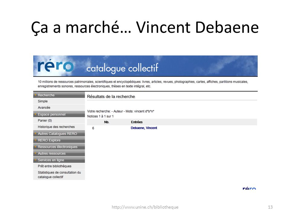 Ça a marché… Vincent Debaene