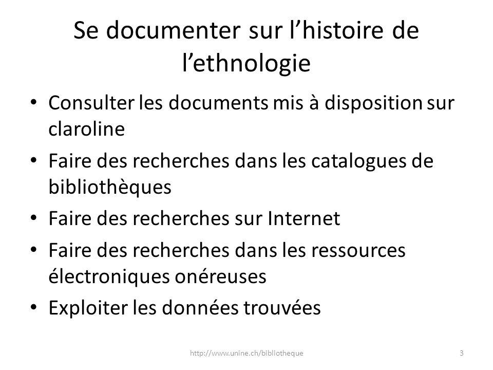 Se documenter sur l'histoire de l'ethnologie