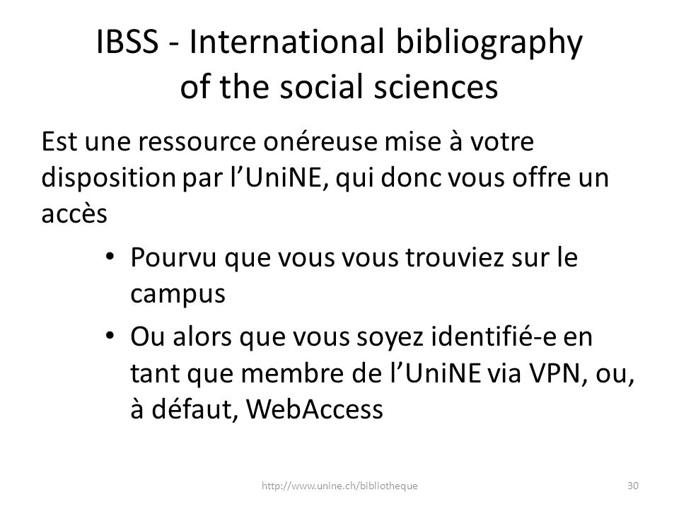 IBSS - International bibliography of the social sciences