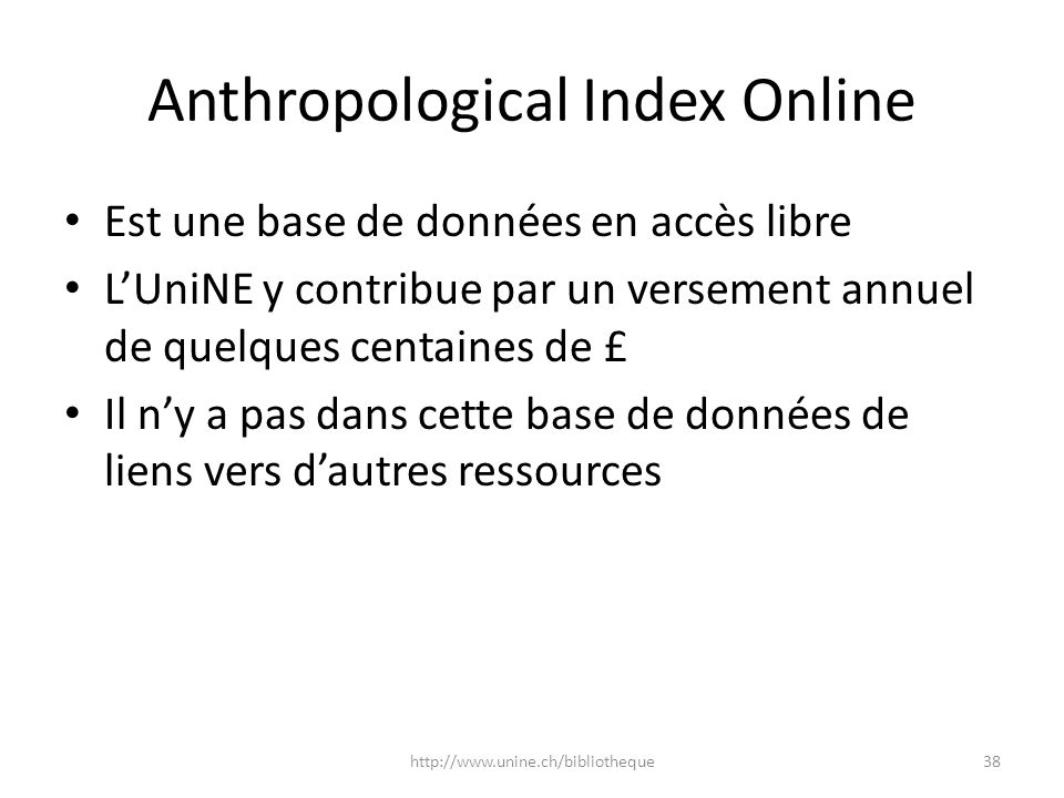 Anthropological Index Online