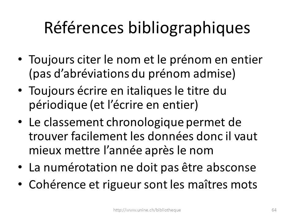 Références bibliographiques