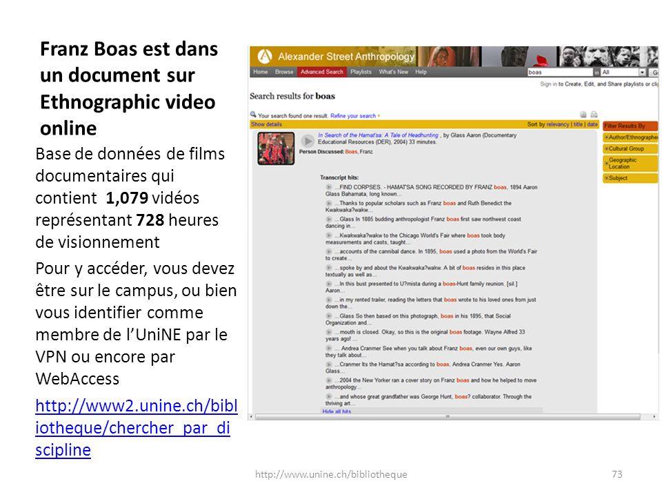 Franz Boas est dans un document sur Ethnographic video online