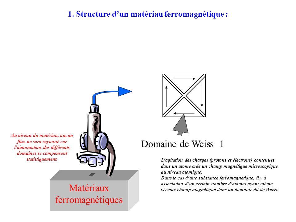 1. Structure d'un matériau ferromagnétique :