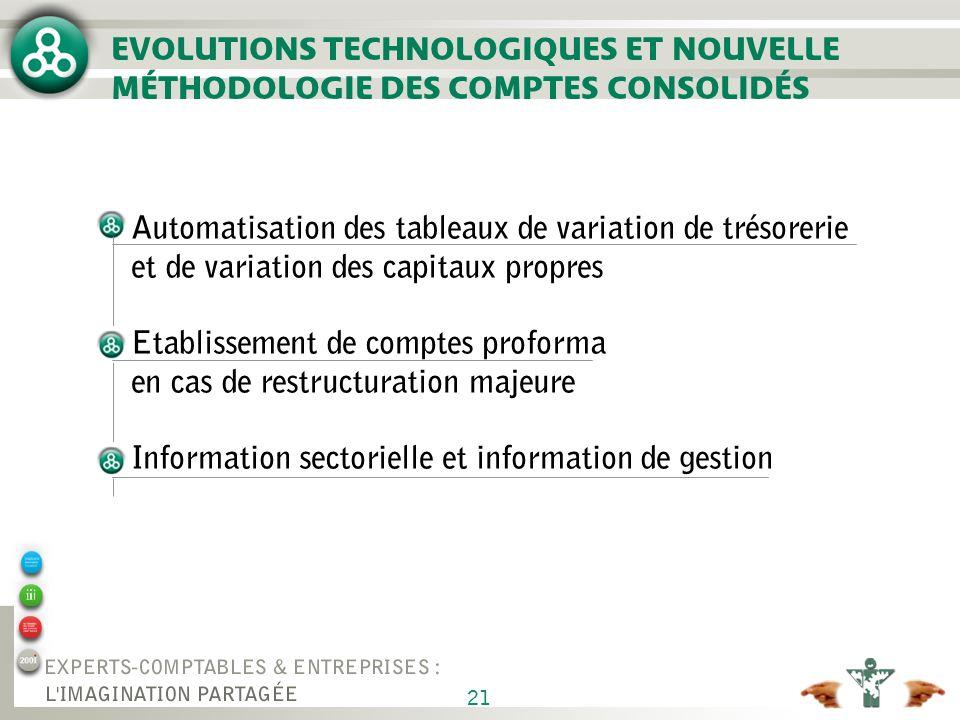 AUTOMATISATION DES TABLEAUX DE VARIATION DE TRÉSORERIE ET DE VARIATION DES CAPITAUX PROPRES