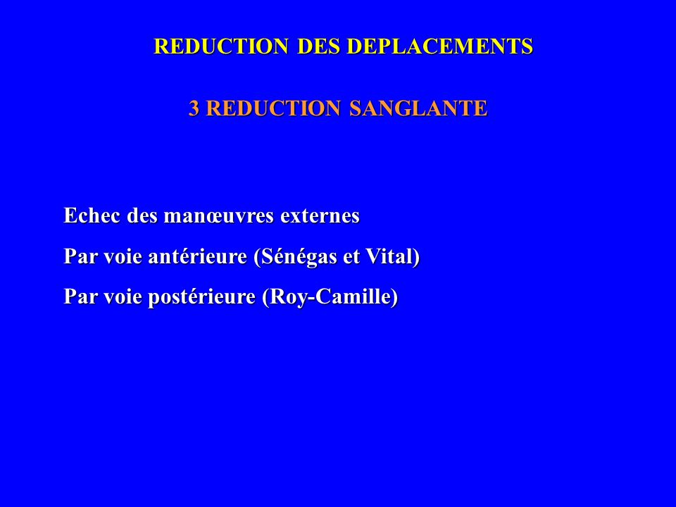 REDUCTION DES DEPLACEMENTS