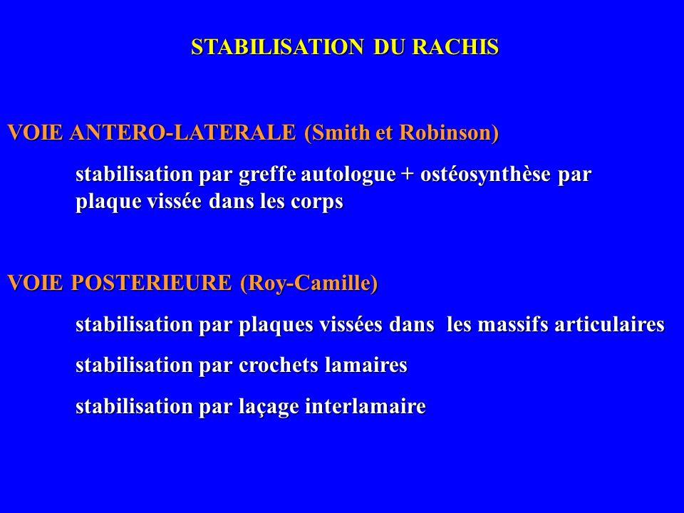 STABILISATION DU RACHIS