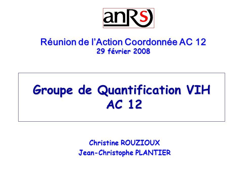 Groupe de Quantification VIH AC 12