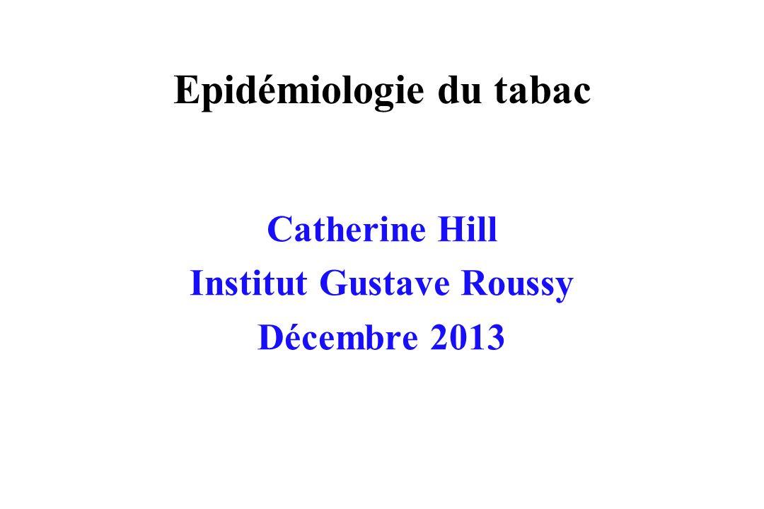 Epidémiologie du tabac