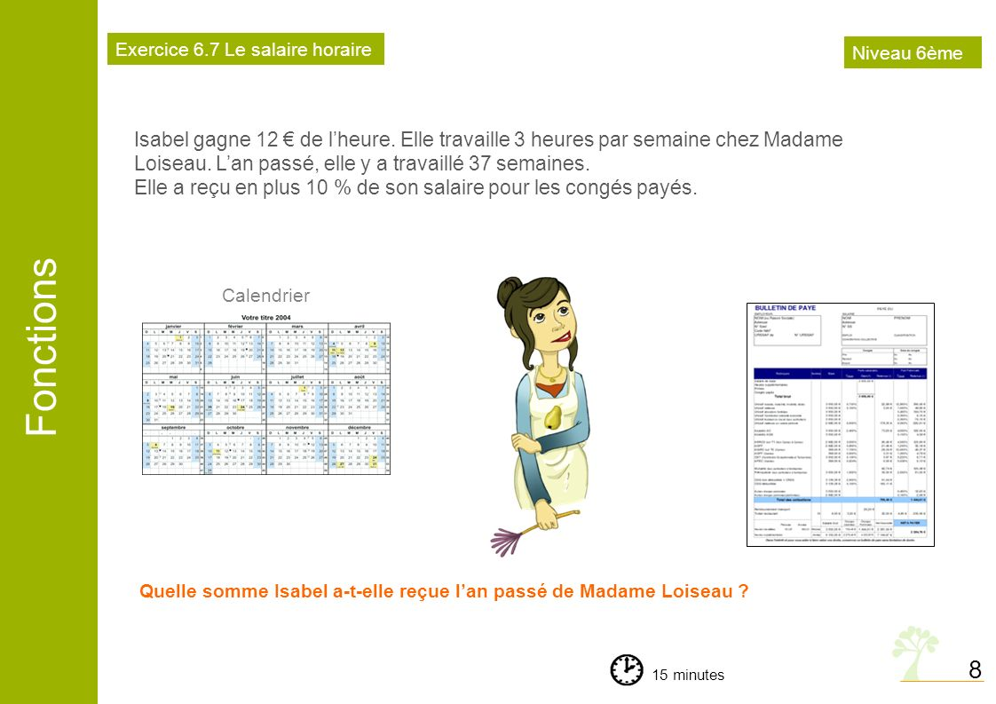 Exercice 6.7 Le salaire horaire