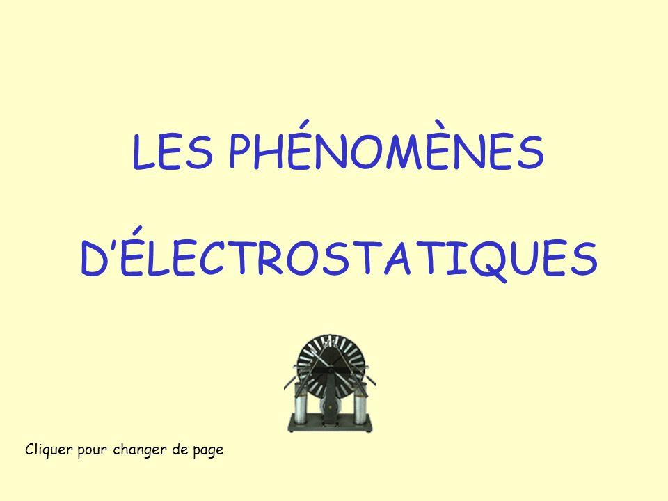 LES PHÉNOMÈNES D'ÉLECTROSTATIQUES