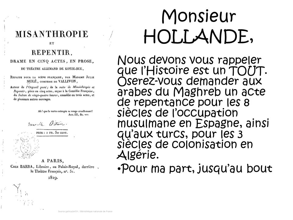 Monsieur HOLLANDE,