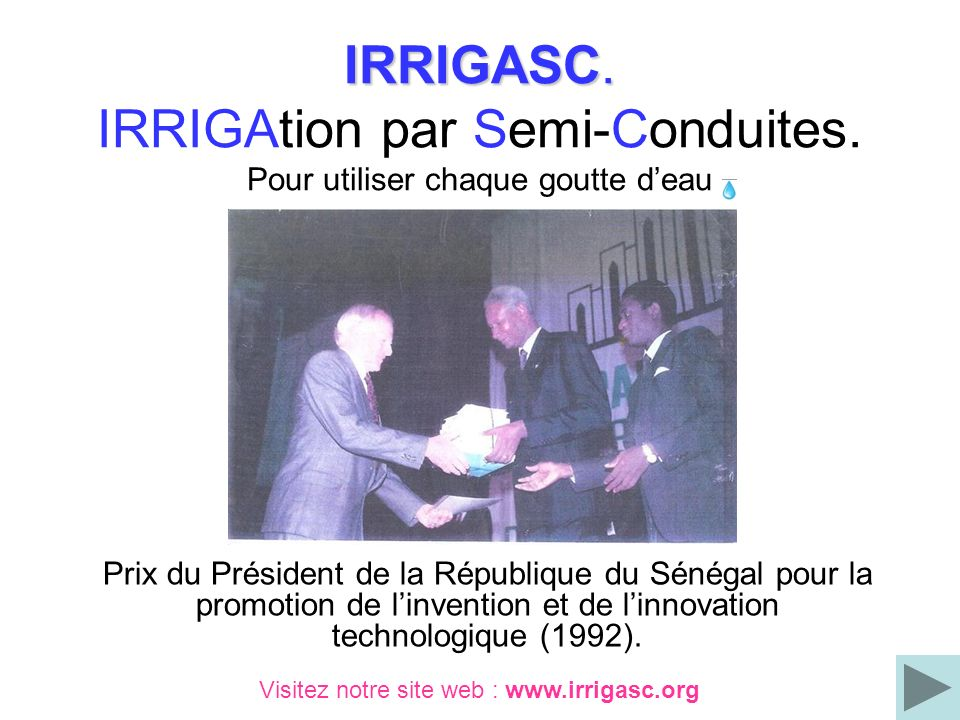 IRRIGASC. IRRIGAtion par Semi-Conduites