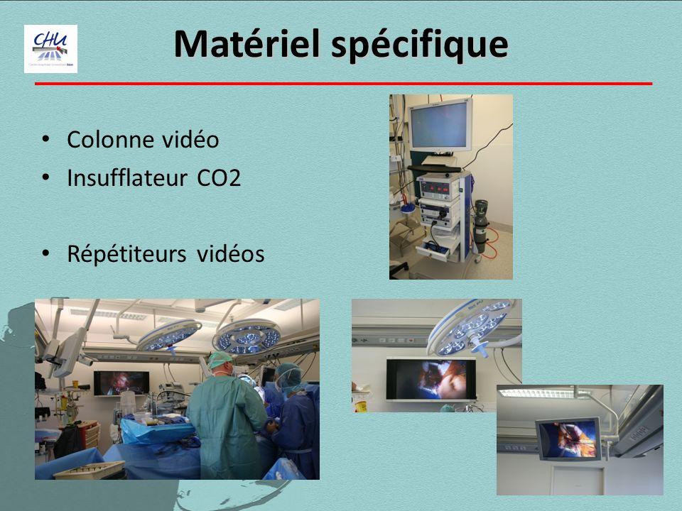 Matériel spécifique Colonne vidéo Insufflateur CO2 Répétiteurs vidéos