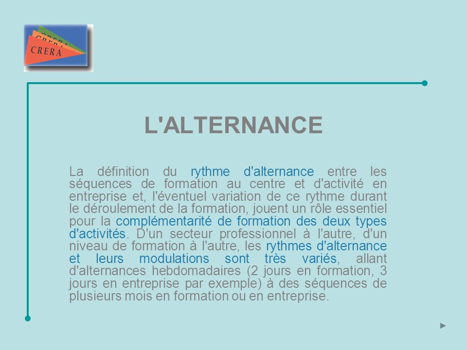 L ALTERNANCE