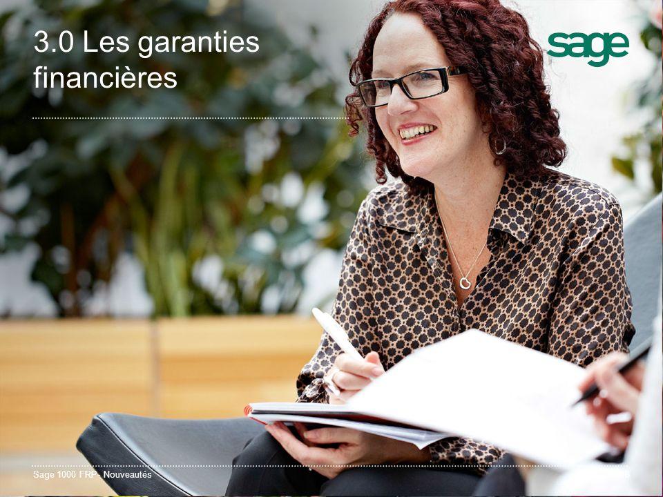 3.0 Les garanties financières