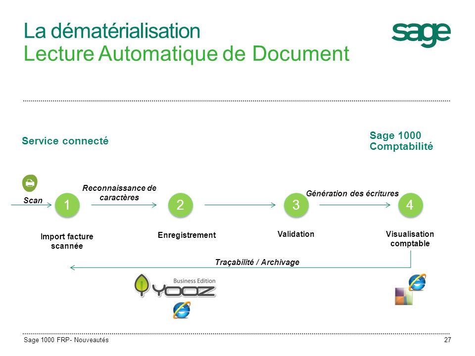 La dématérialisation Lecture Automatique de Document