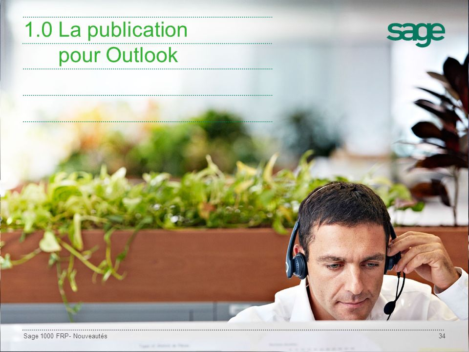 1.0 La publication pour Outlook