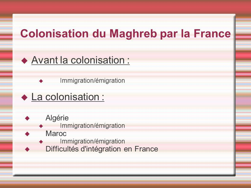Colonisation du maghreb par la france ppt video online - Office francaise d immigration et d integration ...