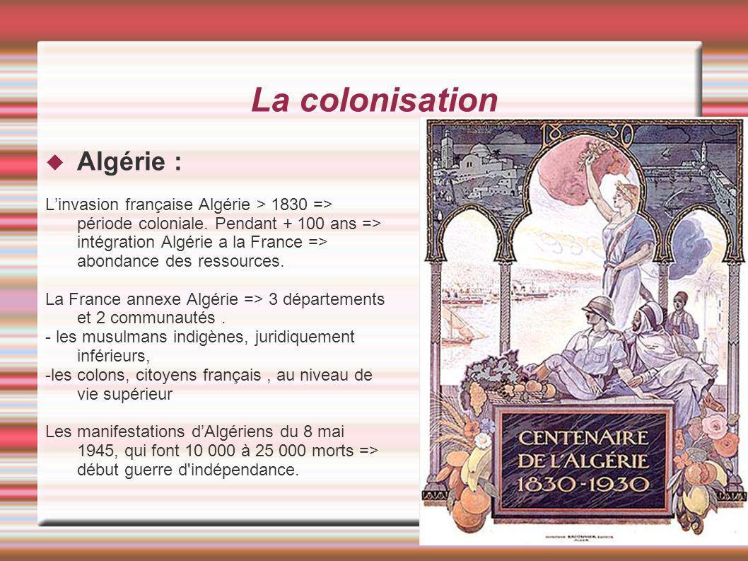 La colonisation Algérie :