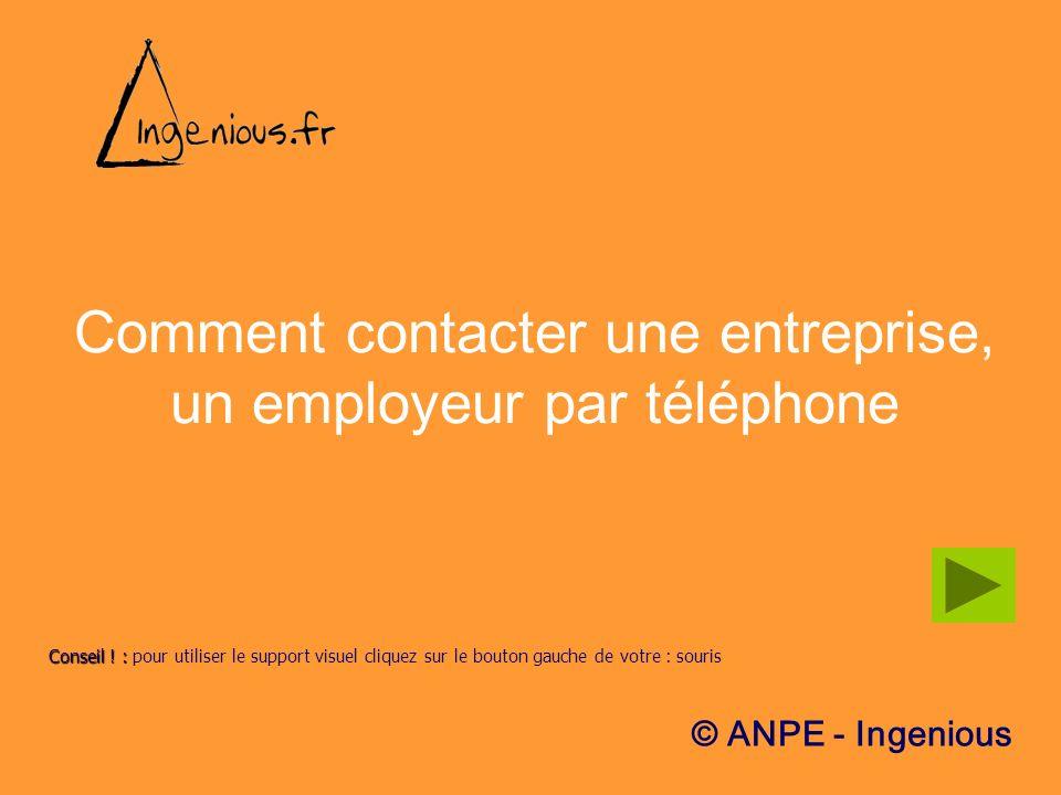 Comment contacter une entreprise, un employeur par téléphone