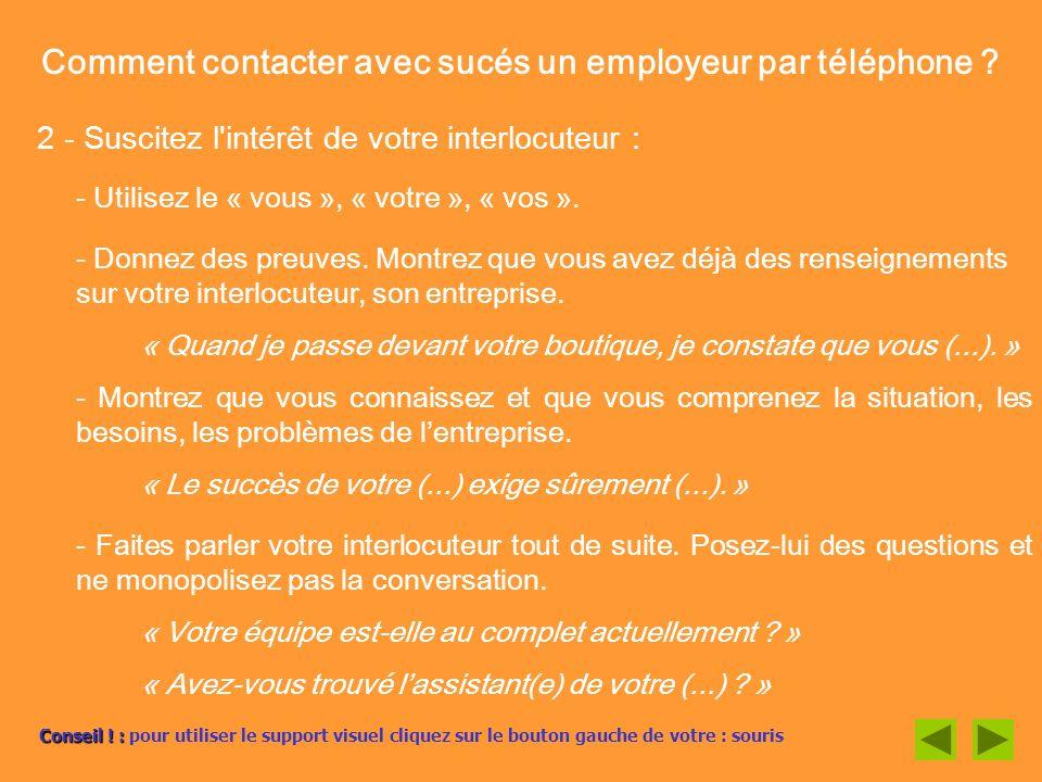 Comment contacter avec sucés un employeur par téléphone
