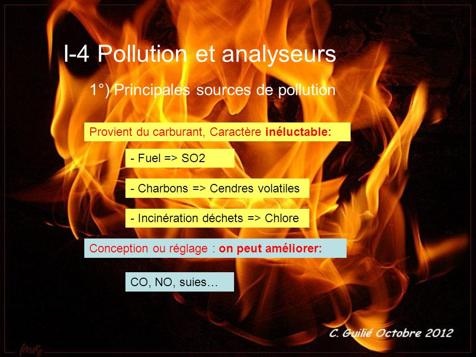 I-4 Pollution et analyseurs
