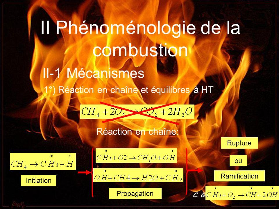 II Phénoménologie de la combustion