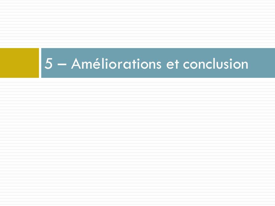 5 – Améliorations et conclusion